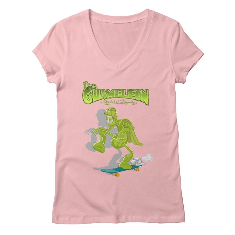 Chameleon Women's V-Neck by ferg's Artist Shop