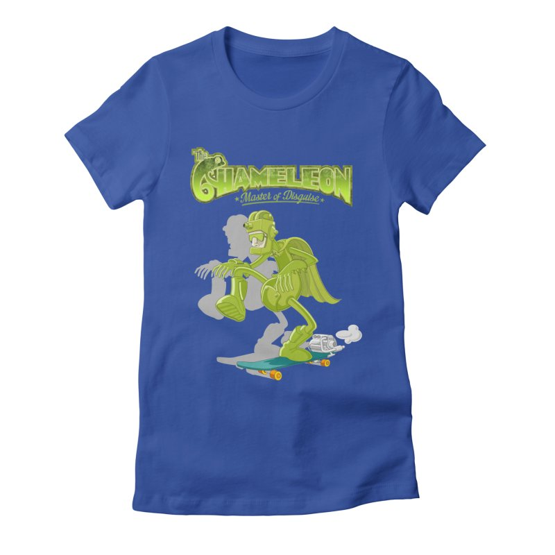 Chameleon Women's Fitted T-Shirt by ferg's Artist Shop