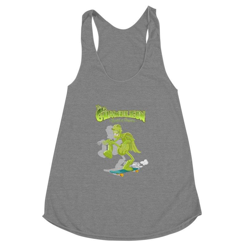 Chameleon Women's Racerback Triblend Tank by ferg's Artist Shop