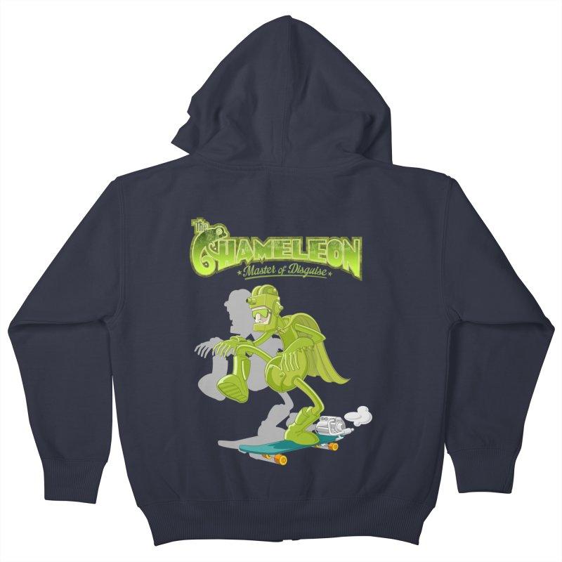 Chameleon Kids Zip-Up Hoody by ferg's Artist Shop