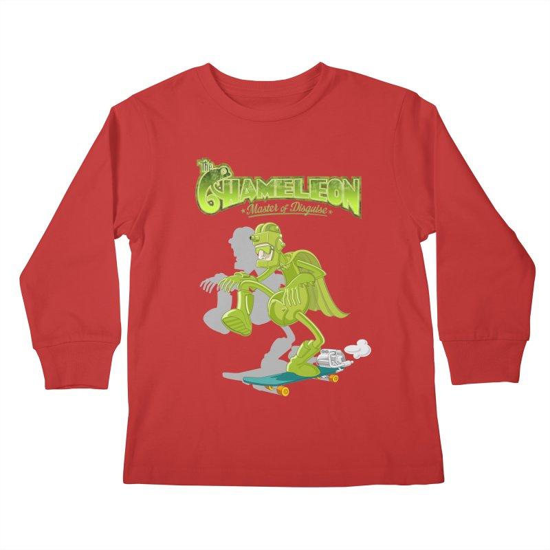 Chameleon Kids Longsleeve T-Shirt by ferg's Artist Shop