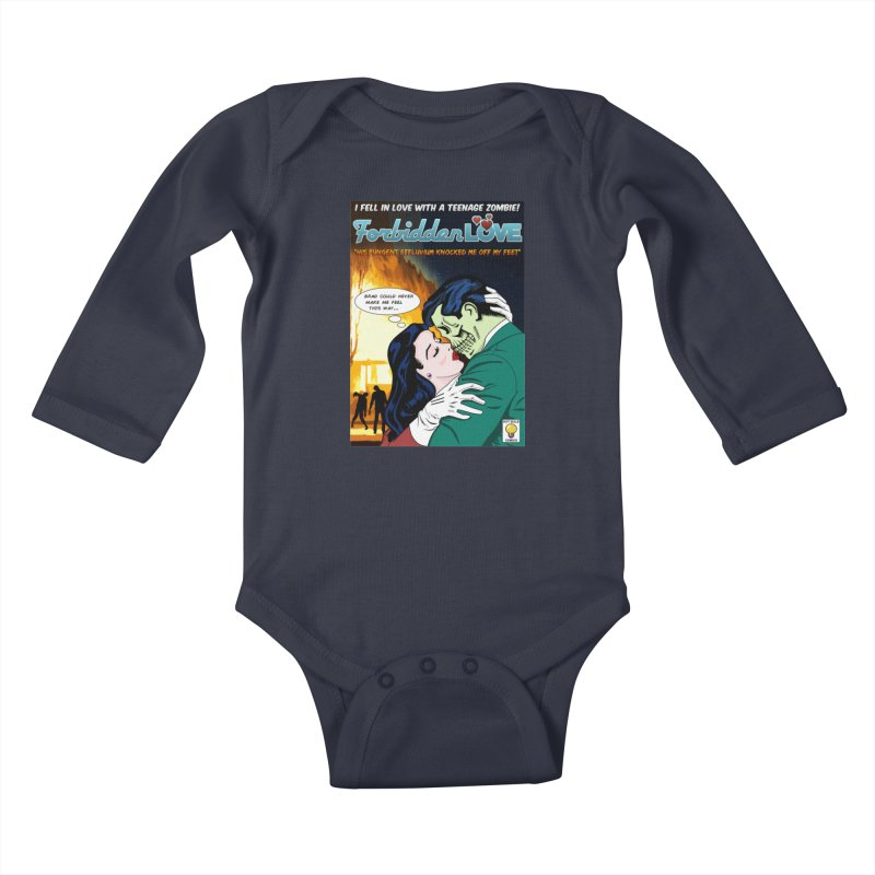 Forbidden Love Kids Baby Longsleeve Bodysuit by ferg's Artist Shop