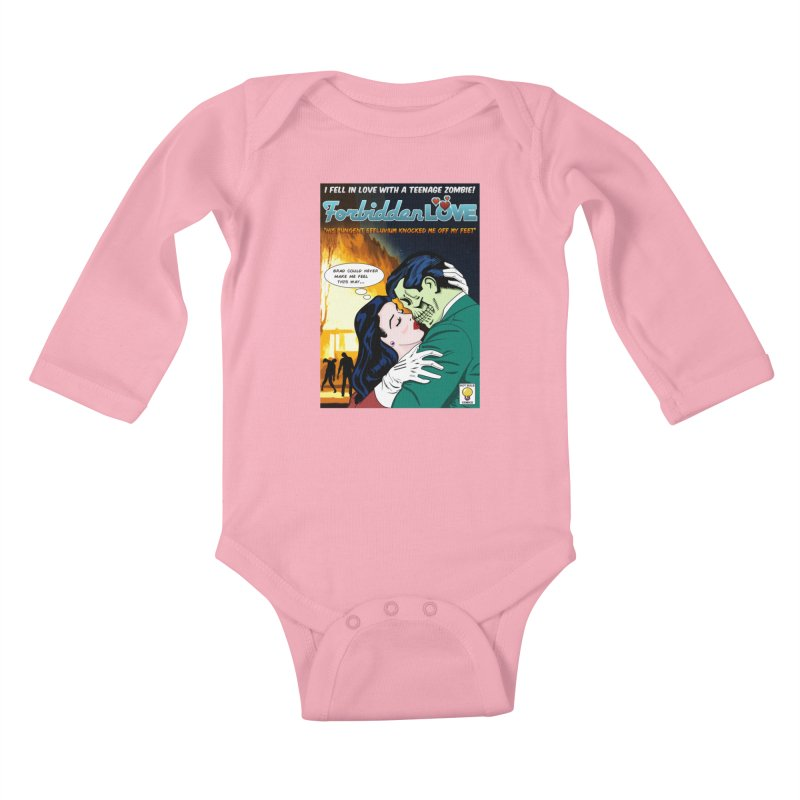 Forbidden Love Kids Baby Longsleeve Bodysuit by ferg's Artist Shop