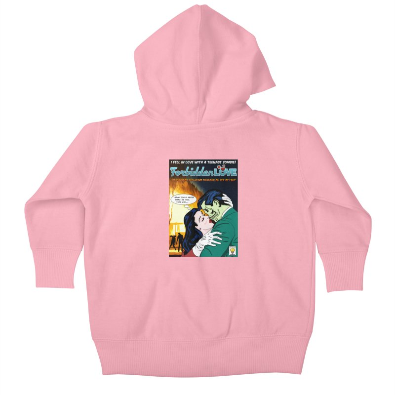 Forbidden Love Kids Baby Zip-Up Hoody by ferg's Artist Shop