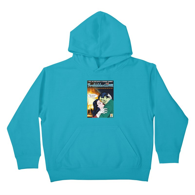 Forbidden Love Kids Pullover Hoody by ferg's Artist Shop