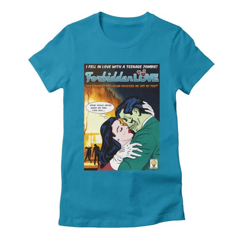 Forbidden Love Women's Fitted T-Shirt by ferg's Artist Shop