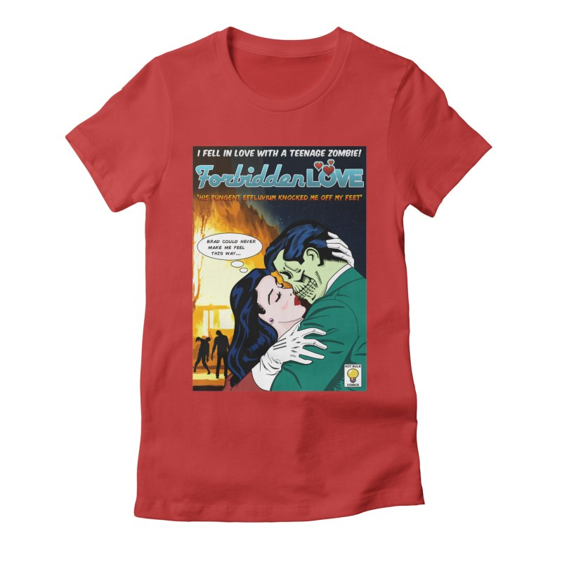 Forbidden Love Women's Fitted T-Shirt by ferg's Artist Shop