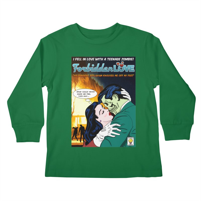 Forbidden Love Kids Longsleeve T-Shirt by ferg's Artist Shop
