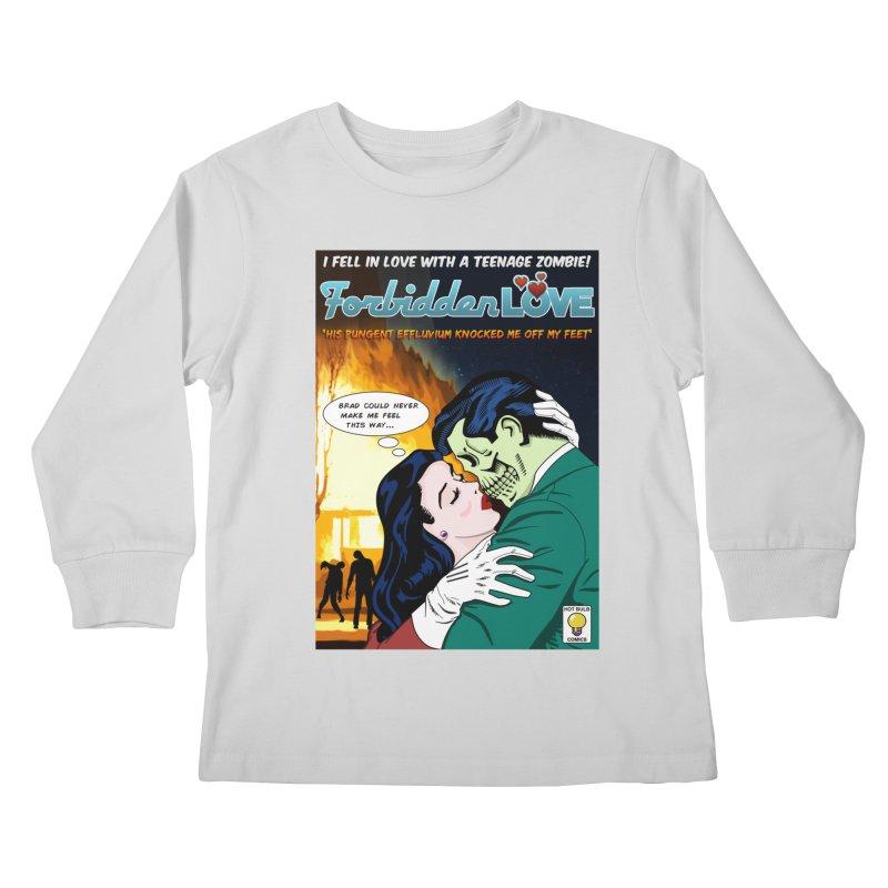 Forbidden Love Kids Longsleeve T-Shirt by ferg's Artist Shop