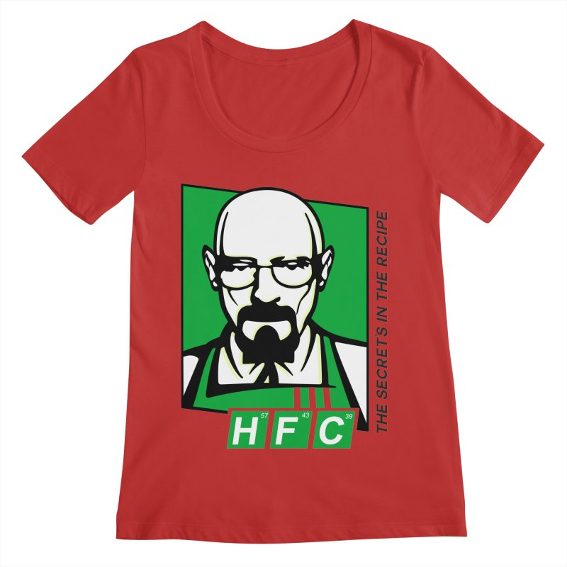 Heisenberg Fried Chicken Women's Regular Scoop Neck by ferg's Artist Shop