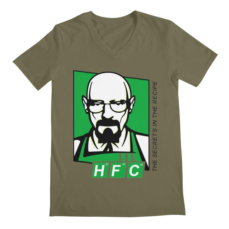 Heisenberg Fried Chicken Men's Regular V-Neck by ferg's Artist Shop