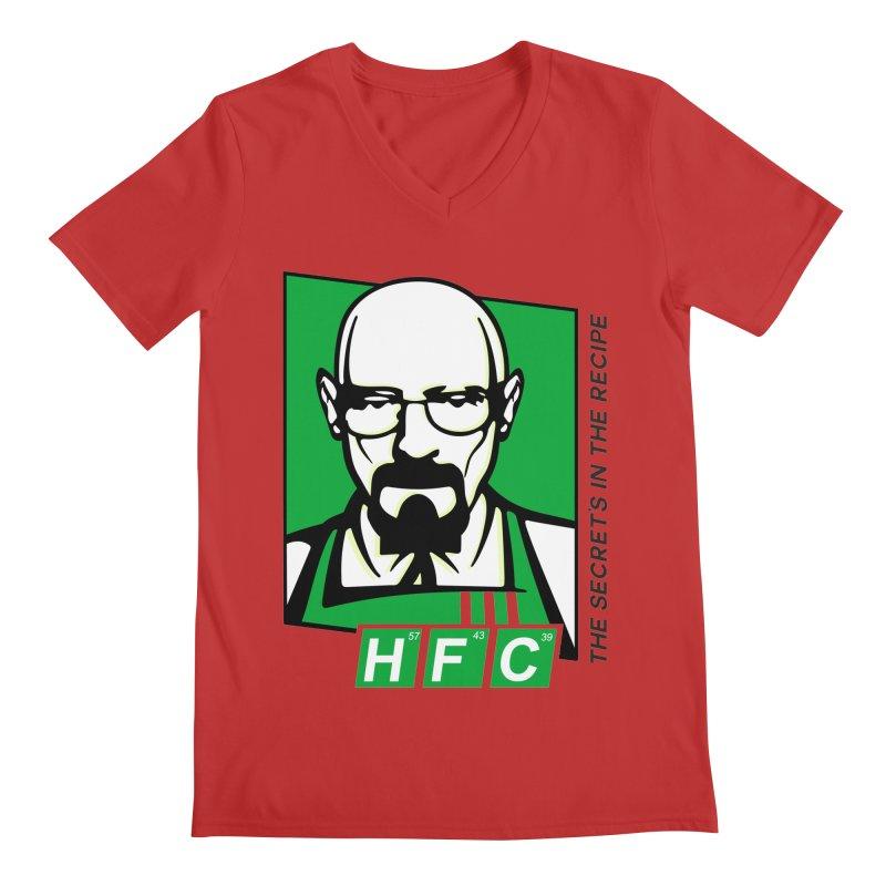 Heisenberg Fried Chicken Men's V-Neck by ferg's Artist Shop