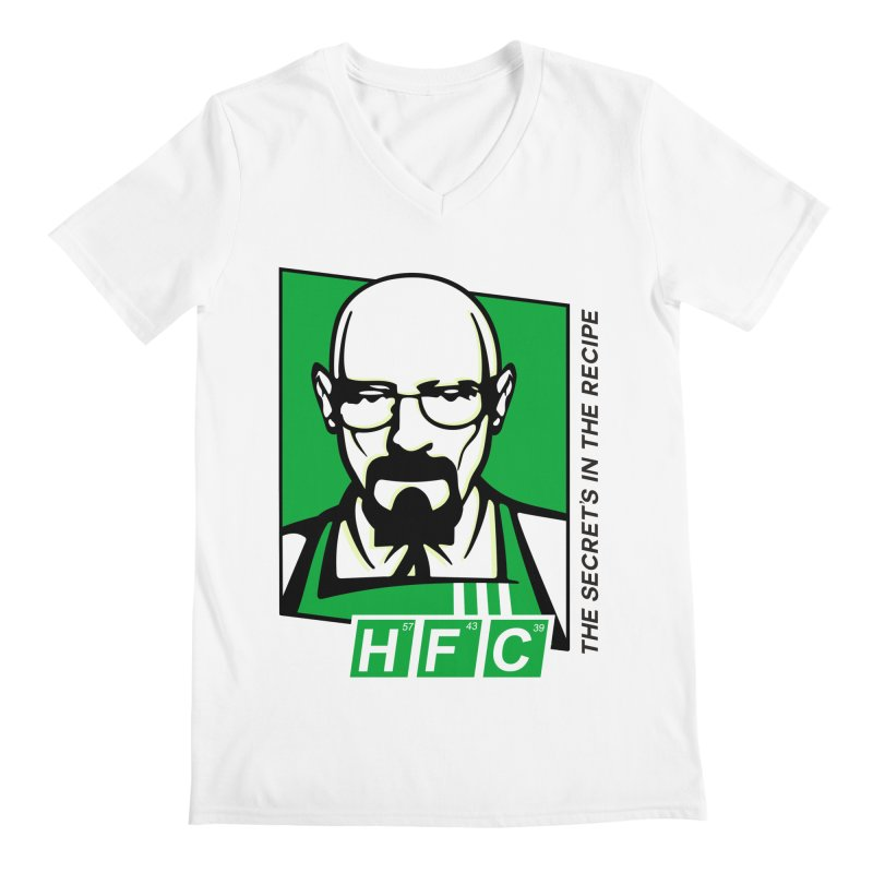 Heisenberg Fried Chicken Men's V-Neck by ferg's Artist Shop