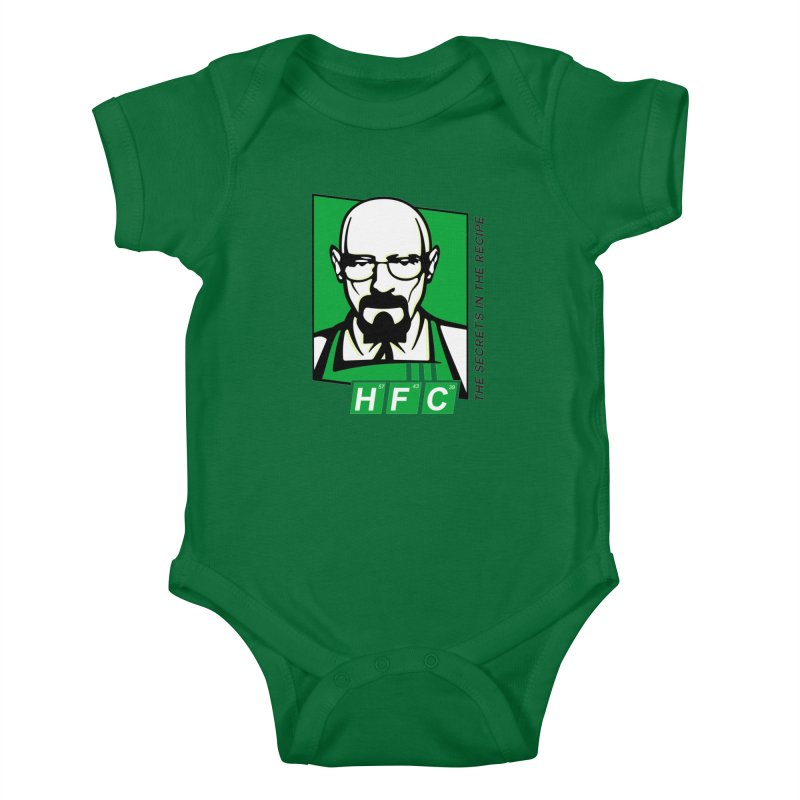 Heisenberg Fried Chicken Kids Baby Bodysuit by ferg's Artist Shop