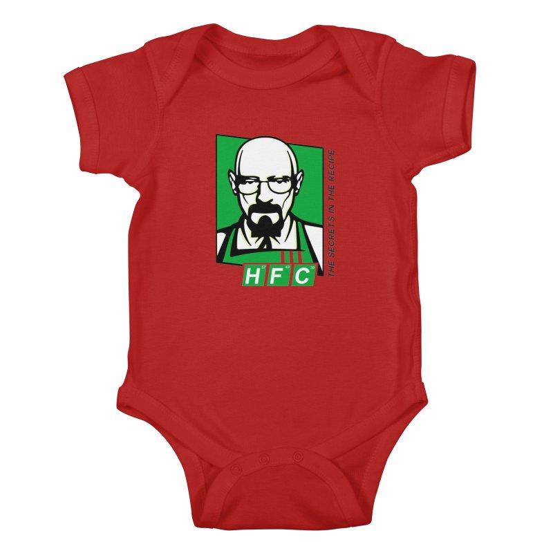 Heisenberg Fried Chicken Kids Baby Bodysuit by ferg's Artist Shop