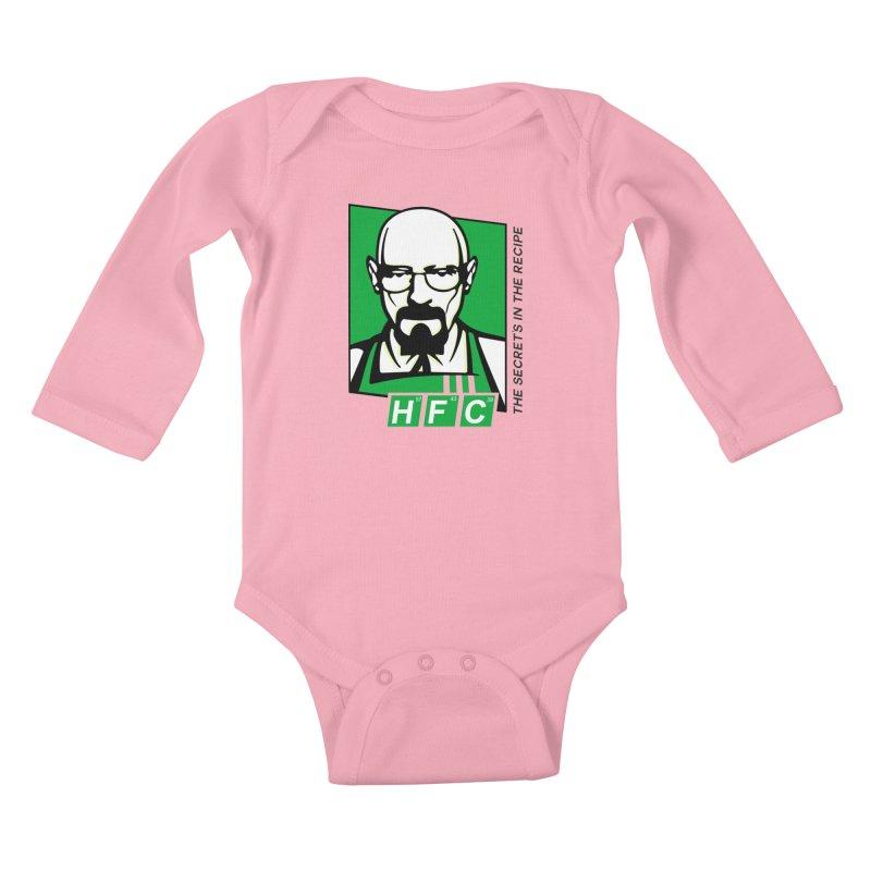 Heisenberg Fried Chicken Kids Baby Longsleeve Bodysuit by ferg's Artist Shop