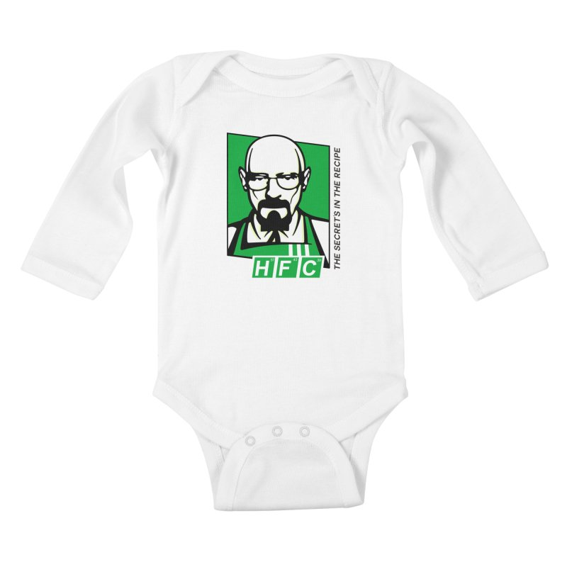 Heisenberg Fried Chicken Kids Baby Longsleeve Bodysuit by ferg's Artist Shop