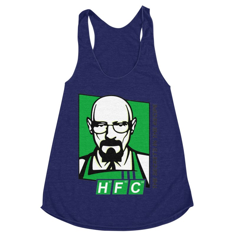 Heisenberg Fried Chicken Women's Racerback Triblend Tank by ferg's Artist Shop