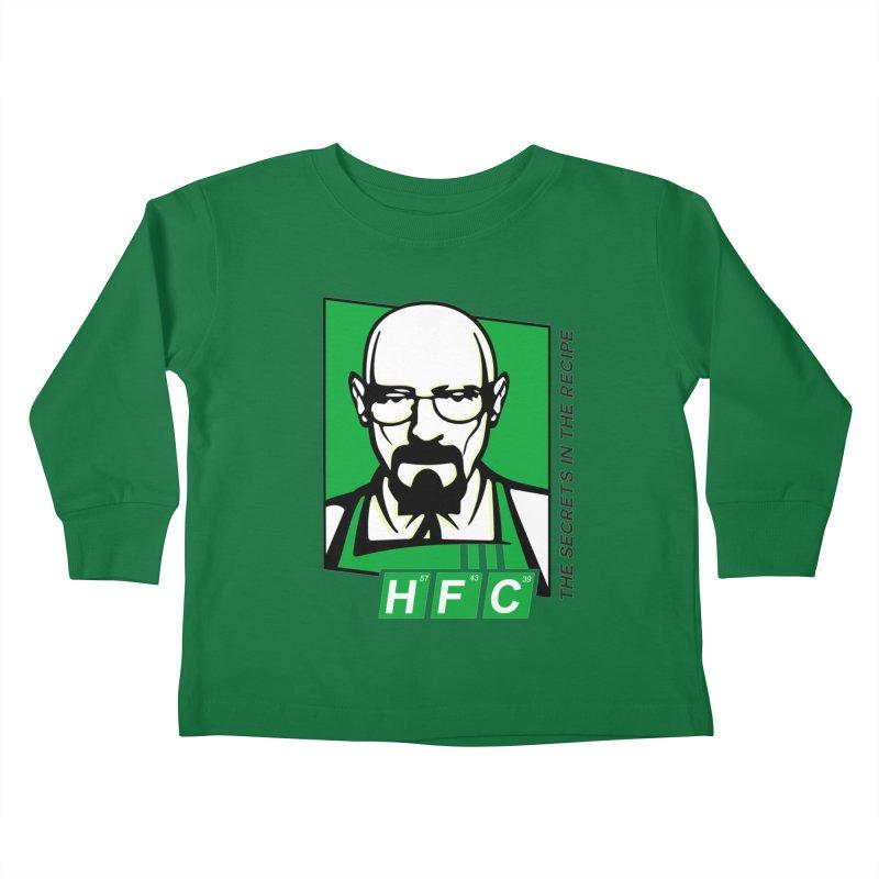 Heisenberg Fried Chicken Kids Toddler Longsleeve T-Shirt by ferg's Artist Shop