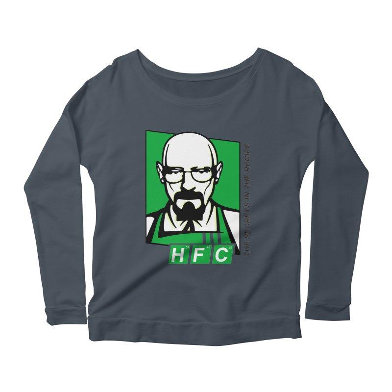 Heisenberg Fried Chicken Women's Scoop Neck Longsleeve T-Shirt by ferg's Artist Shop