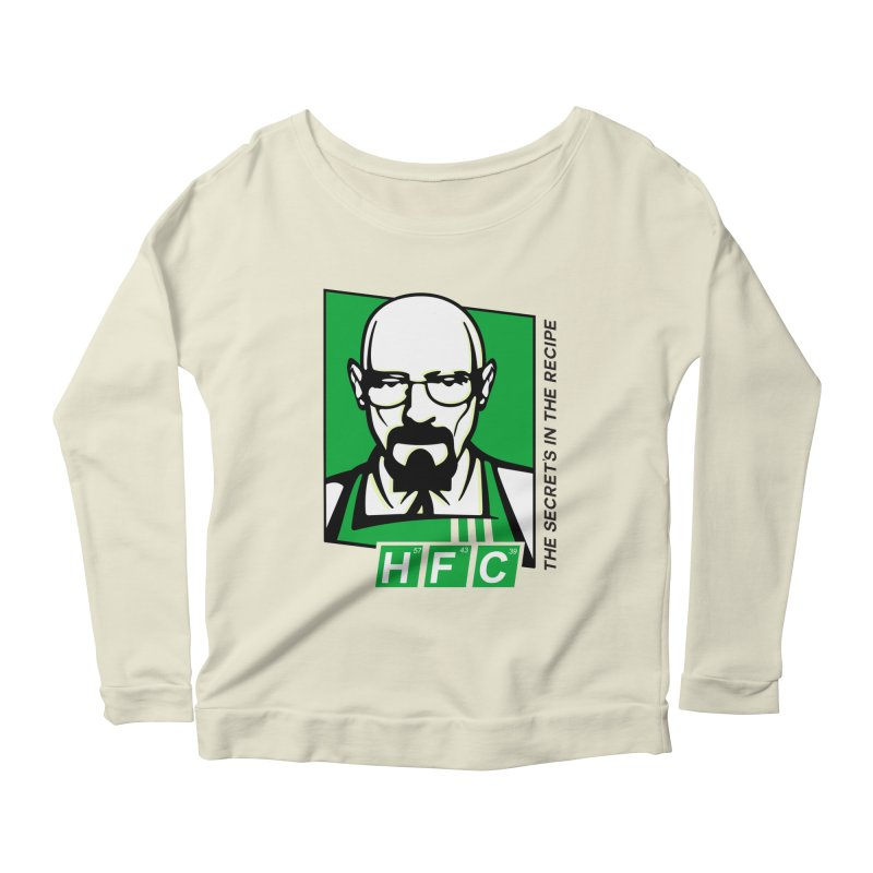Heisenberg Fried Chicken Women's Longsleeve Scoopneck  by ferg's Artist Shop