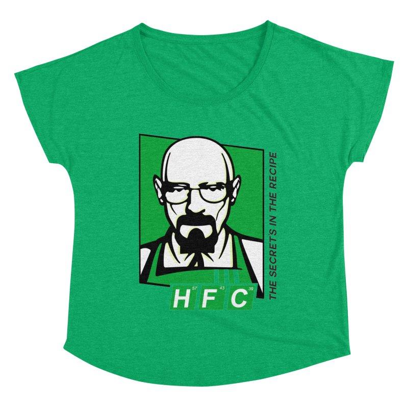 Heisenberg Fried Chicken Women's Dolman Scoop Neck by ferg's Artist Shop