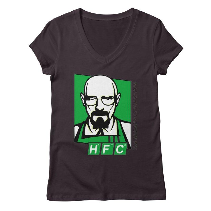 Heisenberg Fried Chicken Women's Regular V-Neck by ferg's Artist Shop