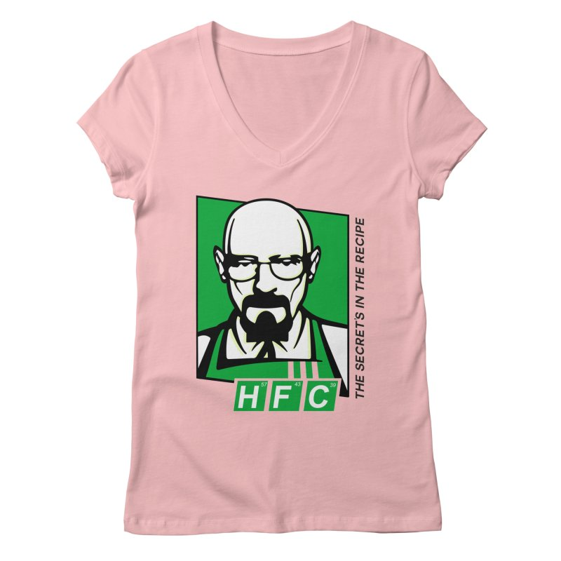 Heisenberg Fried Chicken Women's V-Neck by ferg's Artist Shop