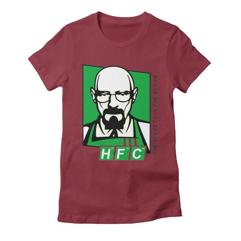 Heisenberg Fried Chicken Women's Fitted T-Shirt by ferg's Artist Shop