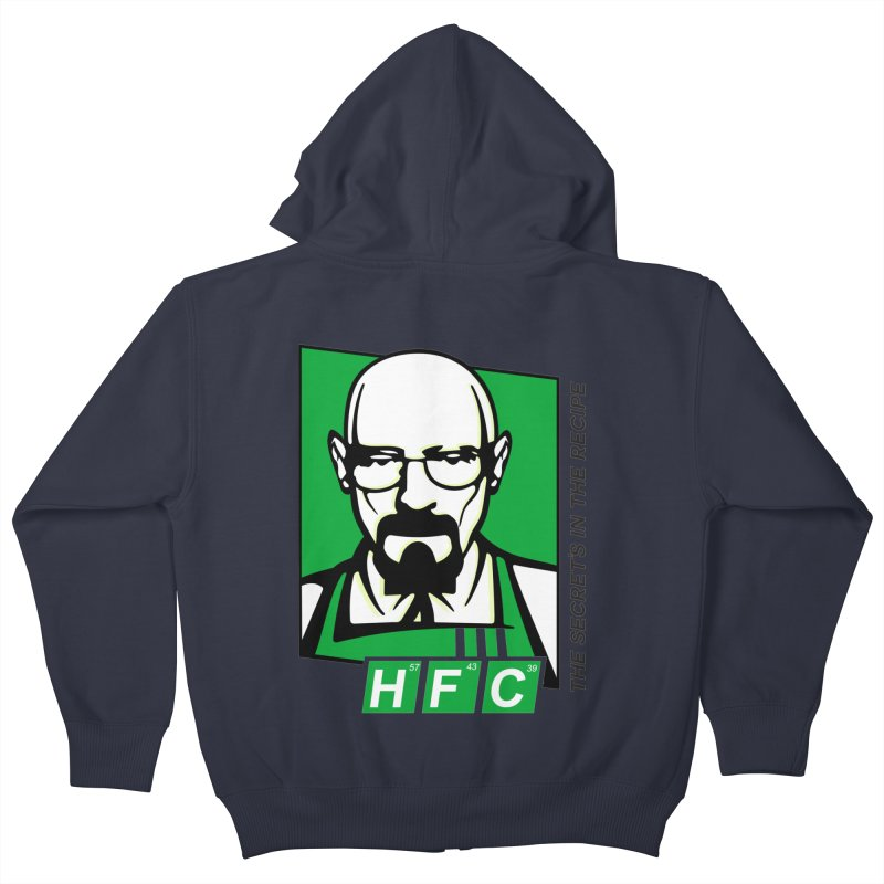 Heisenberg Fried Chicken Kids Zip-Up Hoody by ferg's Artist Shop