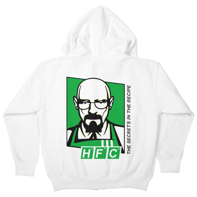 Heisenberg Fried Chicken Kids Zip-Up Hoody by ferg's Artist Shop