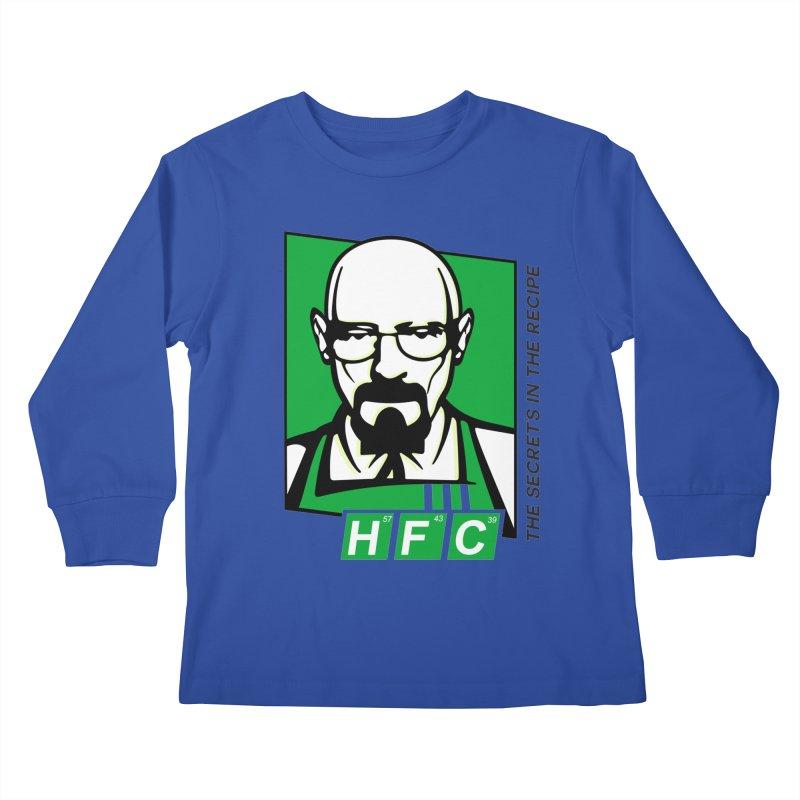 Heisenberg Fried Chicken Kids Longsleeve T-Shirt by ferg's Artist Shop