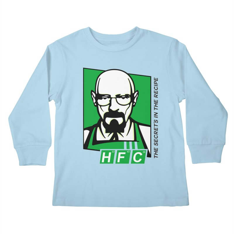 Heisenberg Fried Chicken Kids Longsleeve T-Shirt by ferg's Artist Shop