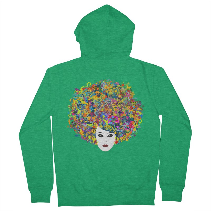 Great Hair Day Women's Zip-Up Hoody by ferg's Artist Shop