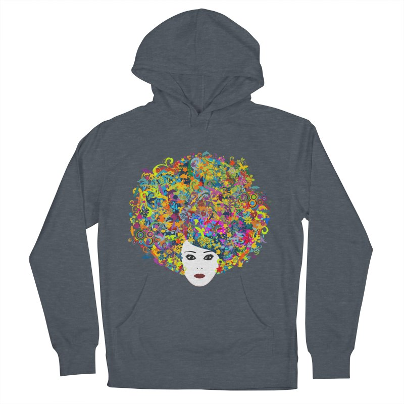Great Hair Day Men's French Terry Pullover Hoody by ferg's Artist Shop