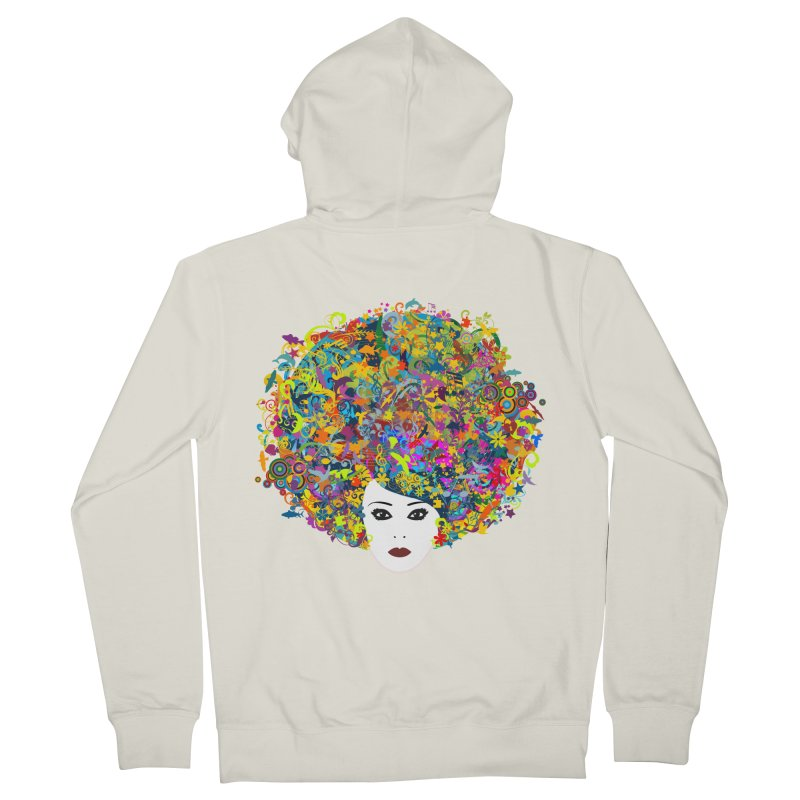 Great Hair Day Women's French Terry Zip-Up Hoody by ferg's Artist Shop