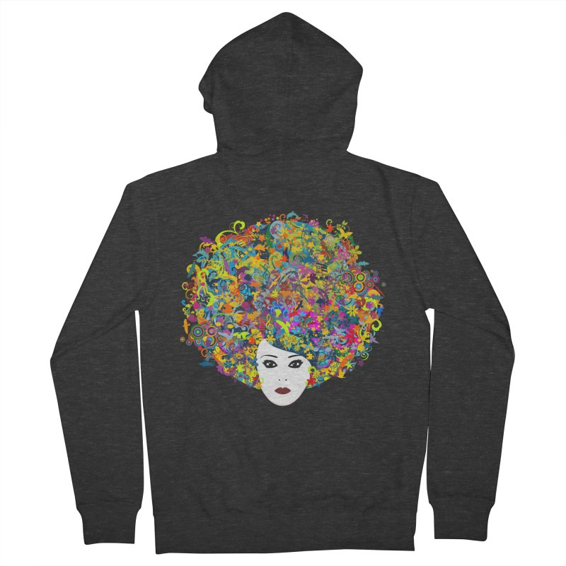 Great Hair Day Men's French Terry Zip-Up Hoody by ferg's Artist Shop