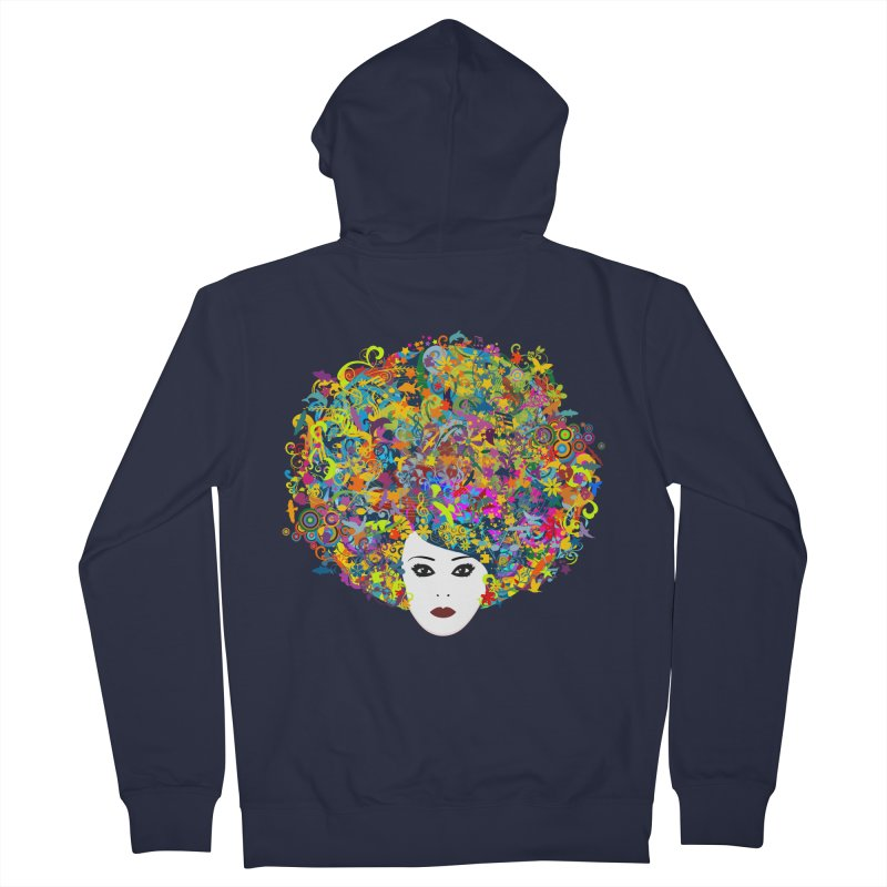Great Hair Day Men's Zip-Up Hoody by ferg's Artist Shop