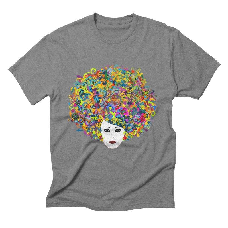 Great Hair Day Men's Triblend T-Shirt by ferg's Artist Shop