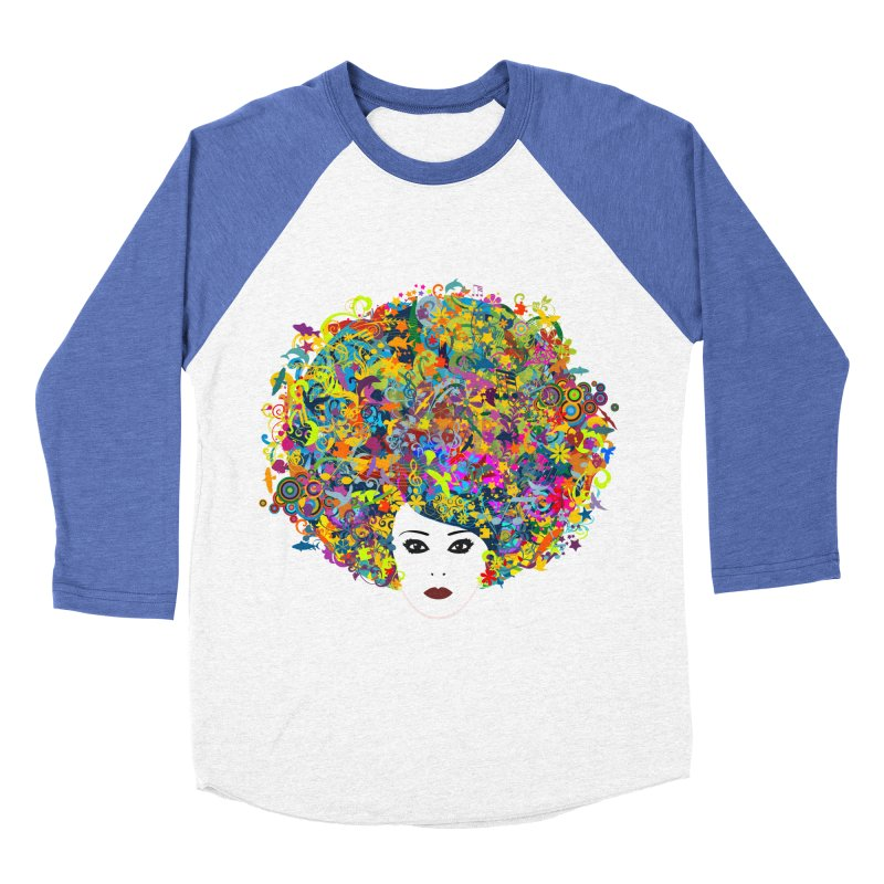 Great Hair Day Women's Baseball Triblend Longsleeve T-Shirt by ferg's Artist Shop