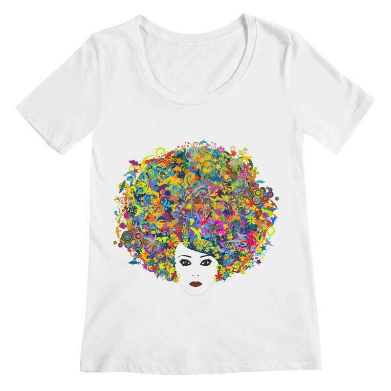 Great Hair Day Women's Regular Scoop Neck by ferg's Artist Shop