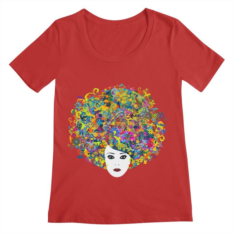 Great Hair Day Women's Regular Scoop Neck by ferg's Artist Shop