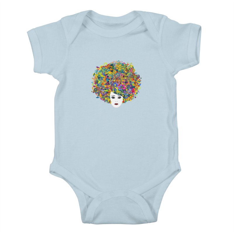 Great Hair Day Kids Baby Bodysuit by ferg's Artist Shop