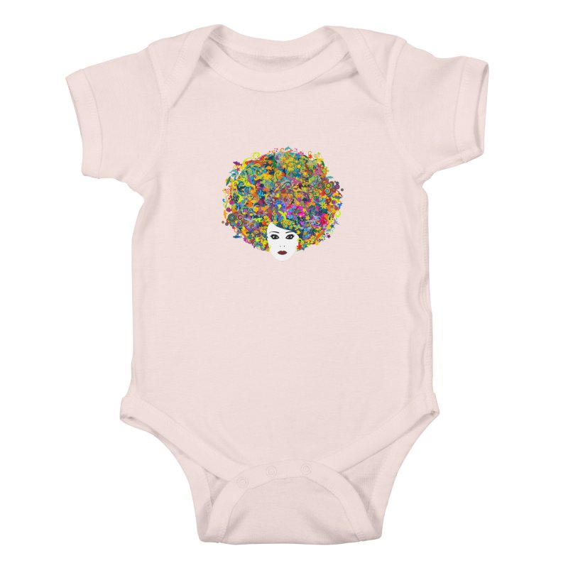 Great Hair Day Kids Baby Bodysuit by ferg's Artist Shop