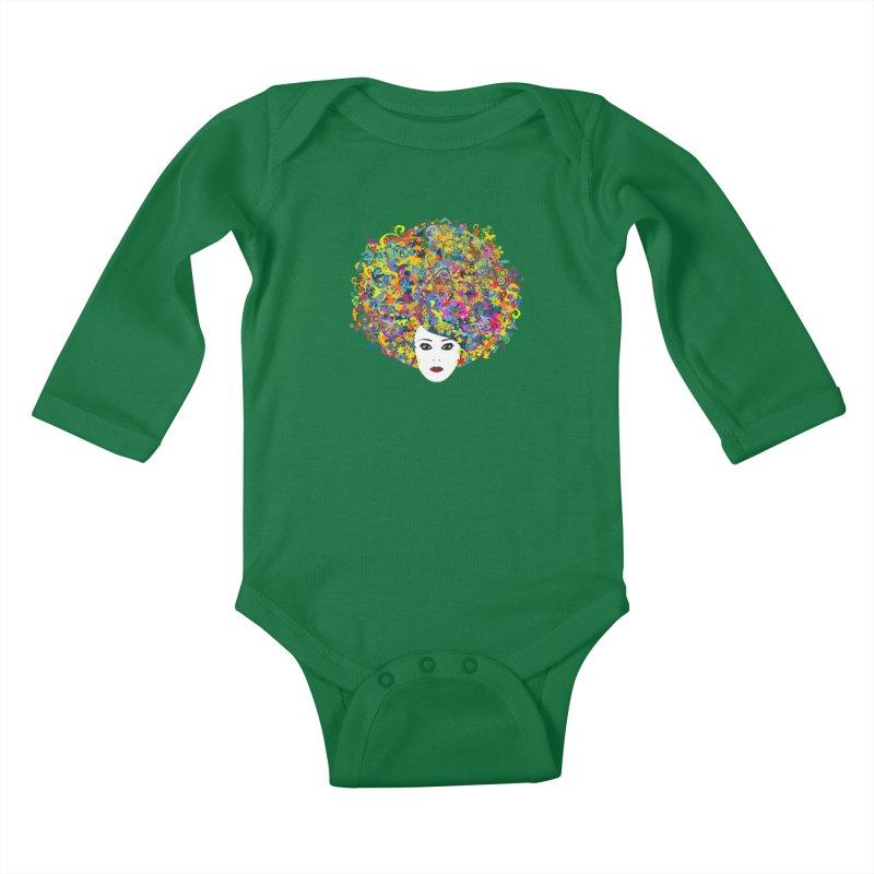 Great Hair Day Kids Baby Longsleeve Bodysuit by ferg's Artist Shop