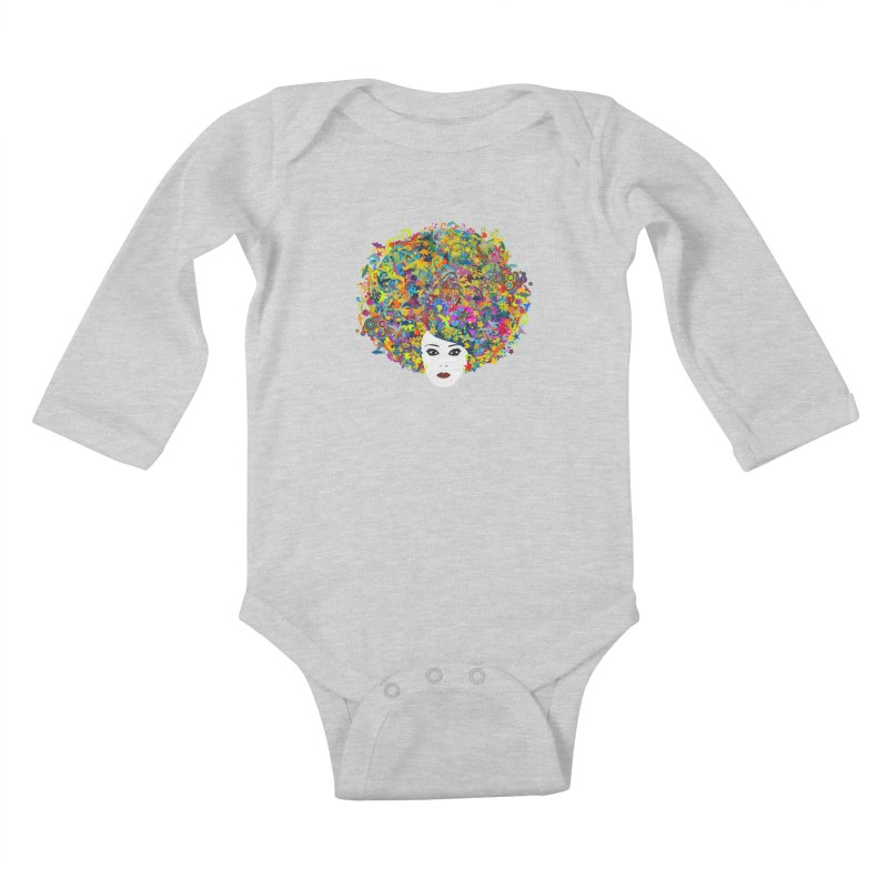 Great Hair Day Kids Baby Longsleeve Bodysuit by ferg's Artist Shop