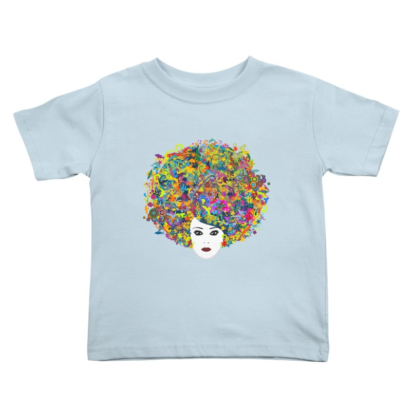 Great Hair Day Kids Toddler T-Shirt by ferg's Artist Shop