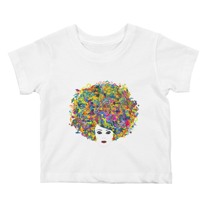 Great Hair Day Kids Baby T-Shirt by ferg's Artist Shop