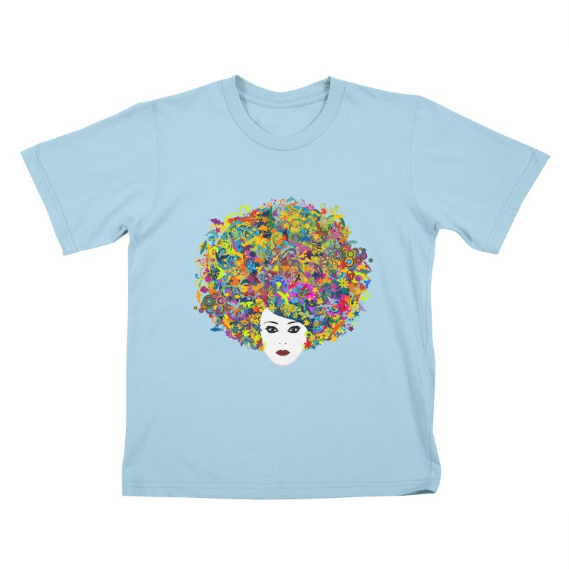 Great Hair Day Kids T-Shirt by ferg's Artist Shop