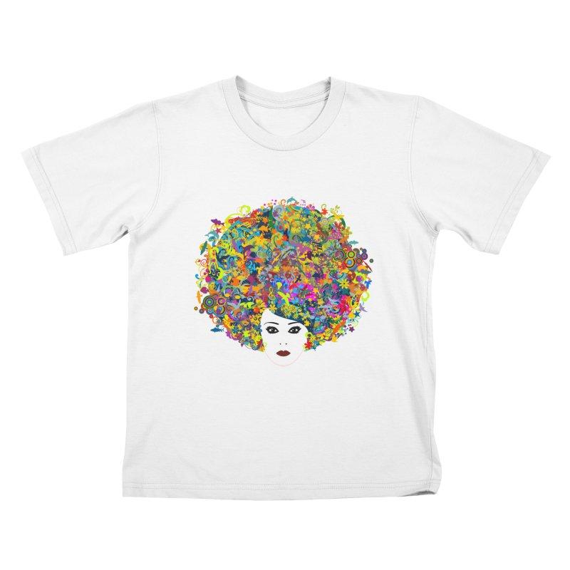 Great Hair Day Kids T-Shirt by ferg's Artist Shop